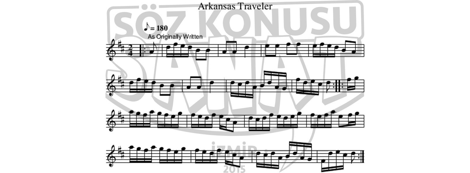 arkansas-traveler-keman-notası