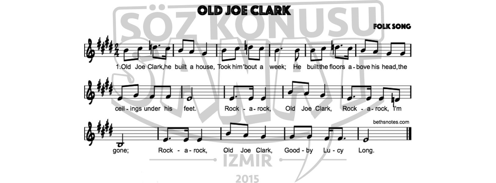 old-joe-clark-keman-notası